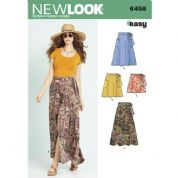 6456 New Look Pattern: Misses' Easy Wrap Skirts in Four Lengths